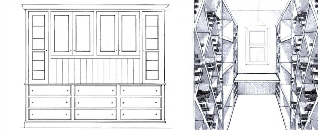 Design services - cupboard and winerack designs